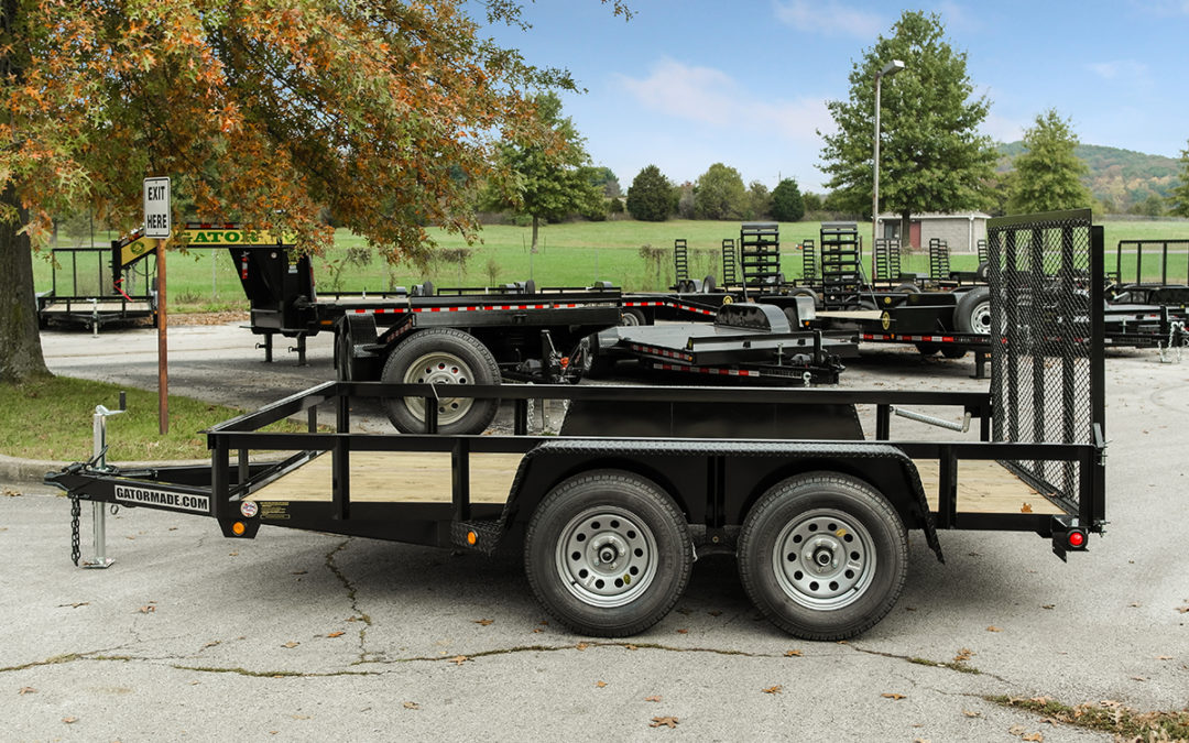 Utility Trailer 6 ft 10 inch x 12 ft Tandem Axle 7k GVWR